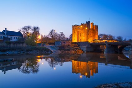 Bunratty Castle, County Clare at night