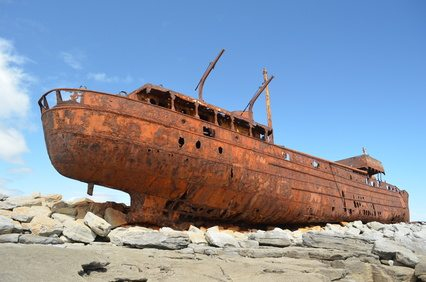 Plassey Shipwreck on Inisheer in Galway Bay